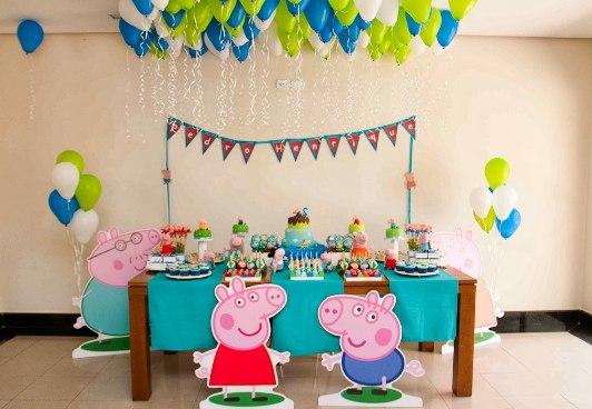 День рождения в стиле свинка пеппа своими